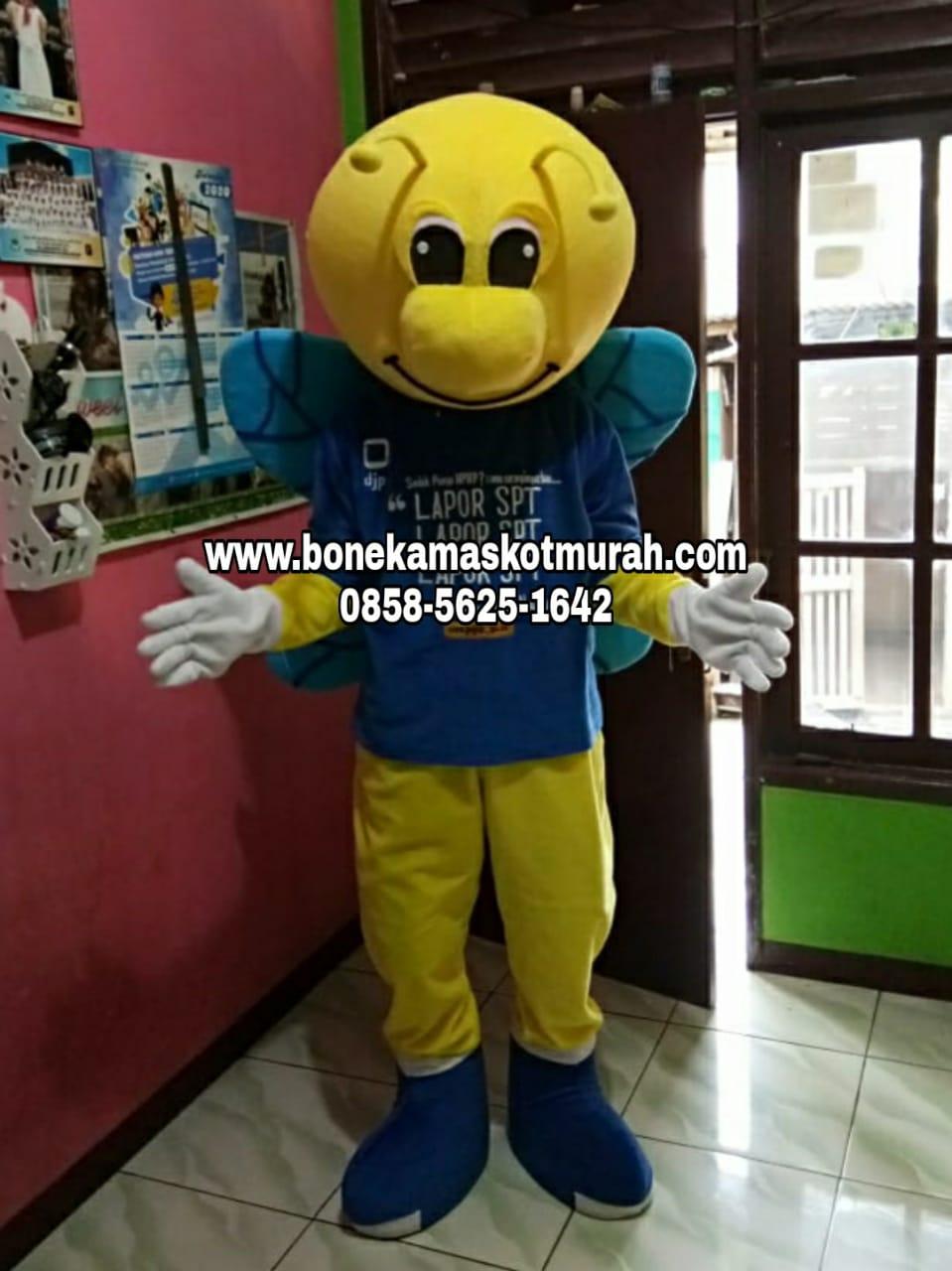 kostum maskot badut lebah
